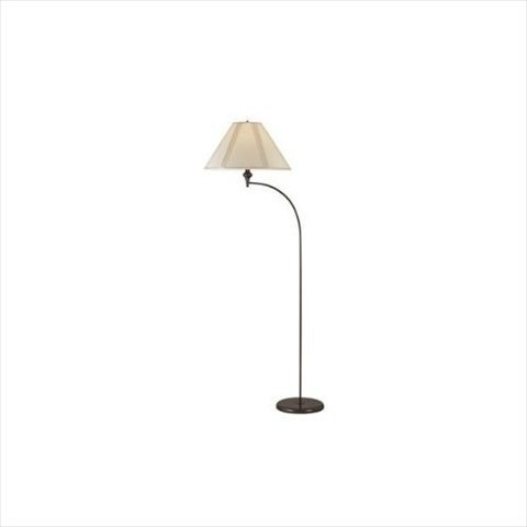 "Cal Lighting Bo-218 1 Light 66"" Height Arc Floor Lamp With 3 Way Switch, Dark Bronze"