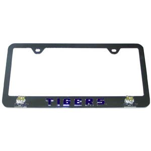 NCAA LSU Tigers College Steel License Plate Tag Frame With Enameled Team Colors And Logo at Amazon.com