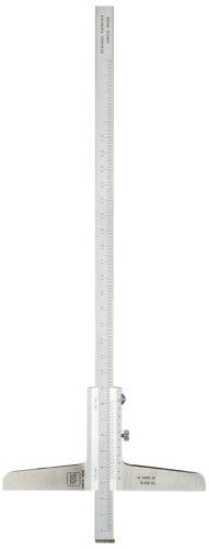Brown & Sharpe TESA 00510212 Vernier Depth Gauge, Caliper Type, 0-250mm Range, 0.02mm Resolution, +/-0.03mm Accuracy, Rotary Stop Plate (Brown And Sharpe Vernier Caliper compare prices)