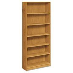 -- 1890 Series Bookcase, 6 Shelves, 36w x 11-1/2d x 84h, Harvest