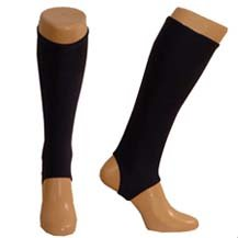 Football Shinnerz - shin pad inner socks (Black, Adult)