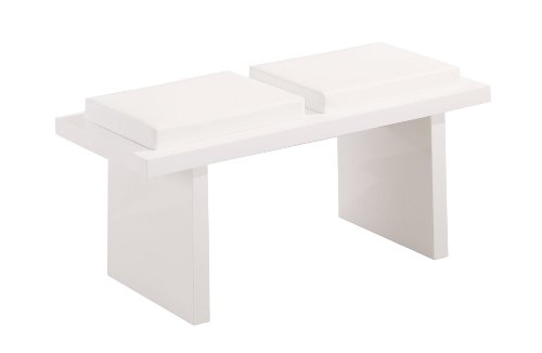 Global Furniture Dining Bench, G020BN, Glossy White
