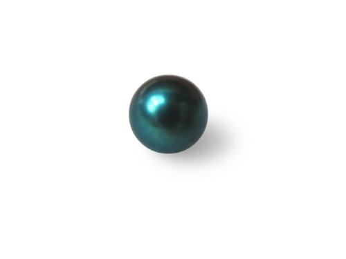 7 mm AAA+ Half Drilled Akoya Black Pearl Bead