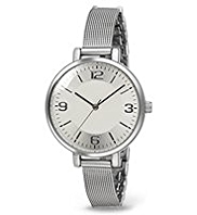 M&S Collection Large Round Face Mesh Strap Watch