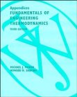 Fundamentals of Engineering Thermodynamics, Appendices (0471141674) by Moran, Michael J.