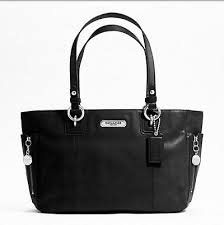 Coach Gallery Leather Zipper Tote Black Leather 19252 image
