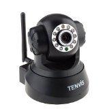 暗視対応・遠隔操作可能! ネットワークカメラ IPカメラ【ブラック】◇FS-IPC100