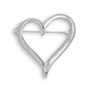 Open Heart Fashion Pin