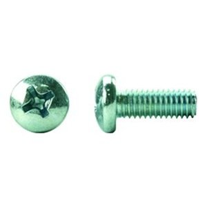 6-32 X 2-1//4 Size Pan Head Machine Screws Metric Hardware Fastener Kit Phillips Drive Stainless Steel Set of 100