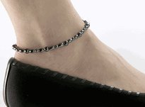 Magnetic Hematite Ankle Bracelet Anklet, 10.5″ – 1 anklet