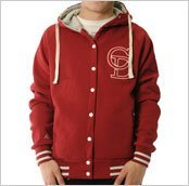 Criminal Damage Club Hood Mens Hoodie Burgundy: Large