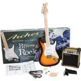 Archer SS10JRPAKSB Blues and Rock Junior Electric Guitar Package, Sunburst