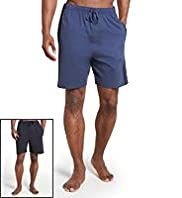 2 Pack Pure Cotton Drawstring Waist Jersey Shorts