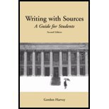 Writing with Sources: A Guide for Harvard Students (2nd Edition)