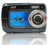 Aqua 5500 Black 18 MP Dual Screen Waterproof Digital Camera