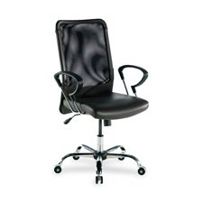 "Lorell  Executive High-Back Chair,24-3/4""x25-1/2""x42-1/2"",Black Lthr"
