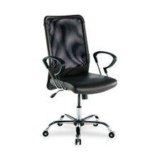 "Lorell  Executive High-Back Chair,24-3/4""x25-1/2""x42-1/2"",Black Lthr"