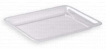"Clear Plastic Serving Tray, 14"" X 10"" front-533930"