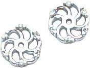 14K White Gold Diamond-Cut Earring Jackets Jewelry
