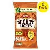 Walkers Mighty Lights Roast Chicken Flavour Crinkle Cut Crisps 6X25g