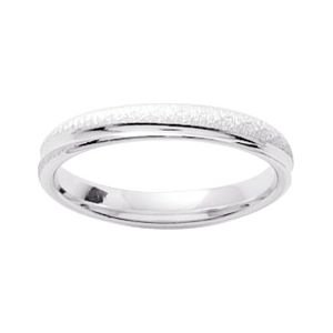 So Chic Jewels - 9k White Gold 3 mm Fantasy Pattern Wedding Band Ring