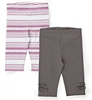 2 Pack Pure Cotton Fair Isle Leggings