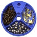 Eagle Claw Hook Swivel and Sinker Assortment, 75 Piece from Eagle Claw