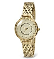 M&S Collection Etched Round Face Bracelet Watch