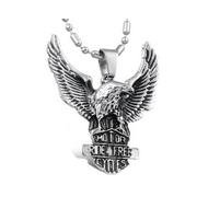 Eagle Pendant - Stainless Steel Eagle - Ride Free Eagle