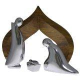 Nambe Holy Family 4-Piece Nativity wi…