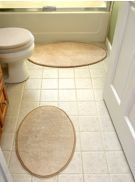 "Microfiber Absorbing Oval Bath Mat Bathroom Rug Oval Rug 17"" X 24"""