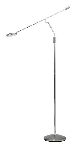 Adesso 3627-22 Trapeze Balance Arm Floor Lamp, Satin Steel/Chrome