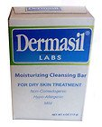 Dermasil Moisturizing Cleansing Bar Soap for Dry Skin Treatment, Non-Comedogenic, Hypoallergenic & Mild, TWO 4.0 Oz Bars
