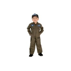 Air Force Fighter Pilot Child Costume Size 2T-4T Toddler