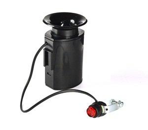 Kloud City® Black Cycling Bike Electronic Loud Horn Siren Loudspeaker Bell With 6 Alarm Sounds