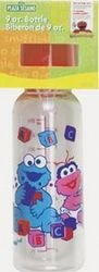 Sesame Street 8 Oz Baby Bottle (Cookie Monster and Zoey) - 1