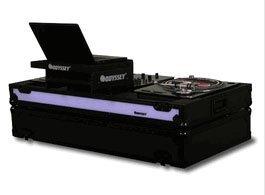 Odyssey Ffxgsbm10Wbl Fx Led Glide Turntable Coff Table Top10 Inch Dj Mixer Coffin