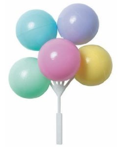 Item 34423 pastel balloon cluster pic for Balloon cluster decoration
