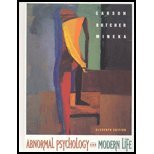 Abnormal Psychology & Modern Life (Book ) with CDROM (0205325238) by Carson