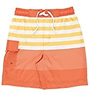 Contrast Drawstring Striped Swim Shorts