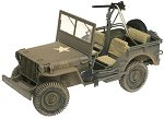 GIJOE 12 INCH WILLYS JEEP WITH .30 CALIBER MACHINE GUN