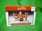1992 Lemax Dickensvale Porcelain Santa with Sled