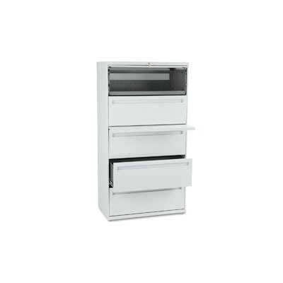 Hon 785Lq - 700 Series Five-Drawer Lateral File W/Roll-Out & Posting Shelf, 36W, Light Gray