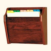 Wooden Mallet Tapered Bottom File Holder, Letter Size, Mahogany