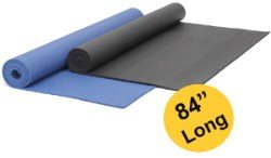 "YogaAccessories (TM) Extra Long 1/4"" Deluxe Yoga Mat – Black"