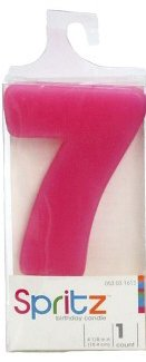 Spritz Molded # 7 Birthday Candle Pink (1 Count) (Cow Wax Warmer compare prices)