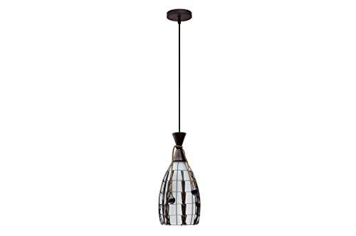 Finike Brown & White Round Hanging Light