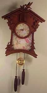 Timeless garden treasures hummingbird cuckoo clock for Garden treasures pool clock