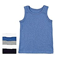 5 Pack Pure Cotton Assorted Vests
