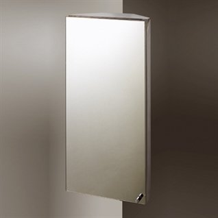 Infinity Corner Stainless Steel Bathroom Cabinet
